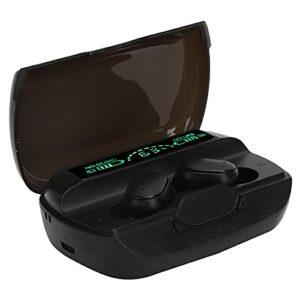 PUSOKEI Écouteurs Bluetooth, écouteurs Portables sans Fil à Commande Tactile, avec étui de Chargement à Affichage Numérique, écouteurs Stéréo HiFi, pour Le Sport, en Plein Air – Noir