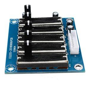 qingjia Stereo 5 Band EQUALISATEUR EQ Board Réglable 5 Segments Audio Tone Audio Preamplificateur Module Dual Power Power pour amplificateur Cinéma Sound Effect Family Salon