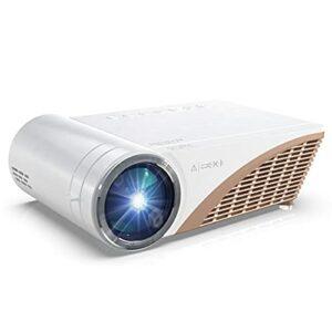 SMDMM S6P Support 1080P LED projecteur 4000 Lumens Compatible USB VGA AV projecteur cinéma Portable projecteur avec Cadeau (Color : Basic Version)
