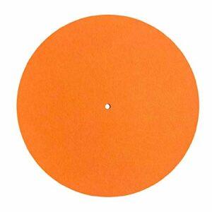 Tapis de plateau en feutre pour tourne-disque vinyle – 295 mm de diamètre – Pour disque vinyle LP – Tapis de platine en feutre blanc