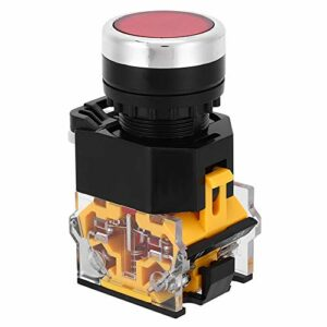Weikeya Interrupteur à bouton-poussoir robuste, degré de protection en plastique de 22 mm.
