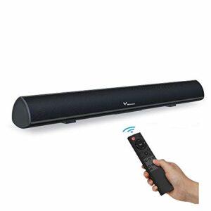 Winnes Barre de Son,TV Haut-Parleur Enceinte PC Wireless Bluetooth 5.0 Soundbar Subwoofer Intégré Son Surround avec Télécommande