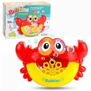 XKMY Machine à bulles automatique en forme de grenouille – Jouet d'extérieur pour enfants (couleur : crabe avec boîte)