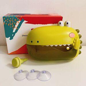XKMY Machine à bulles automatique pour bébé – Jouet de bain pour bébé – Jouet de bain pour enfants – Motif crabes – Grenouille – Musique – Jouet de bain pour enfants – Couleur : jaune avec boîte