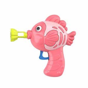 XKMY Machine à bulles automatique pour enfants, jouets Kawaii en forme de poisson – Jouet pour parent-enfant – Bulles colorées – Démoulage automatique – Couleur : D