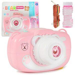 XKMY Machine à bulles automatique pour enfants – Machine à bulles de savon électrique – Lumière d'été, d'extérieur – Couleur : 7