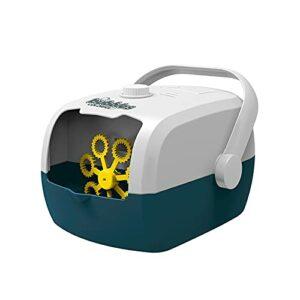XKMY Machine à bulles automatique pour valise, machine à bulles électrique pour fête ou jeux d'extérieur (couleur : blanc et bleu)