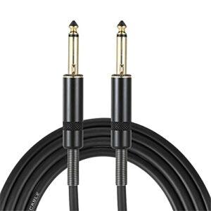 Câble d'instrument de Guitare Guitare Électrique Câble De Raccordement Câble Audio Câble Aucun Bruit Pas D'électricité Buzz Expérience Sonore Supérieure (Couleur : Black, Size : 3 Meters)
