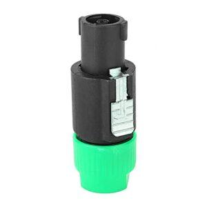 Connecteur de câble audio, prise de connecteur de câble Speakon Câblage rapide 6~15mm étanche pour connecter un haut-parleur pour haut-parleur(green)