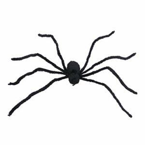 Generic Halloween Simulation Araignées Horreur Effrayant Araignées Blague Faux En Peluche Araignées Décoration Halloween Gadgets Poilu Noir En Peluche Araignées pour Intérieur Extérieur