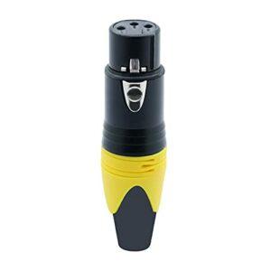 happy time 1 0PCS / lot 3 Broches XLR Connecteur de Microphone mâle/Femelle Micro Adaptateur XLR Connecteur de Fil Audio termininal câble 7 Couleurs (Color : 10xF-Yellow)