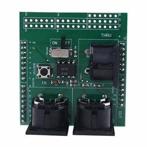 JUNDE Module Adaptateur d'interface numérique pour Instrument de Carte de dérivation Musicale MIDI Shield fhdjcn