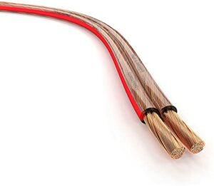KabelDirekt – 10m Câble d'enceinte (2×1,5mm² câble Haut-Parleur HiFi Made in Germany, du cuivre Pur, avec marquage de polarité) Pro Series