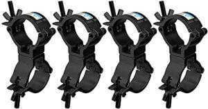 Lot de 4 barres de DJ – Pour éclairage de scène – Double collier de serrage – 51 mm – En alliage d'aluminium – Charge maximale : 100 kg – Convient pour tube de 51 mm de diamètre – Certification TÜV