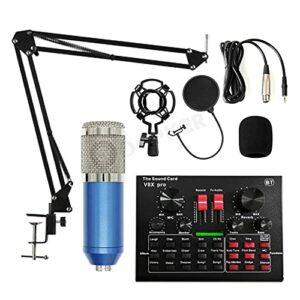 Microphone Microphone à condensateur Karaoké BM 800 pour PC Studio Braodcasting Singing Enregistrement Microfone Mic Kit avec V8X Carte Son Microphones d'enregistrement et Accessoires