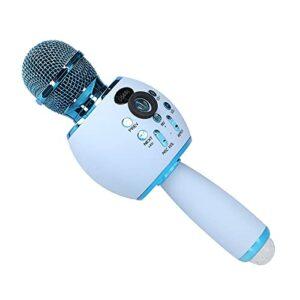 Microphone sans fil, microphone à main portable avec lumière LED, fonction d'interconnexion TWS, prise en charge de plusieurs expériences de lecture