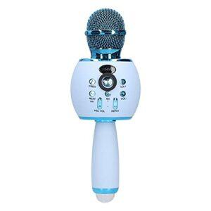 Microphone sans fil, Microphone à main portable avec lumière LED, Son surround 6D haute fidélité, Pour les réunions de famille, Fêtes d'anniversaire, Karaoké
