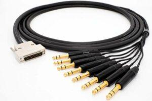 Mogami 2932 8 Multipaire Câble analogique studio Breakout | Gold D-Sub 25 – Neutrik Gold 6,3mm TRS | HiFi – 1,0 m