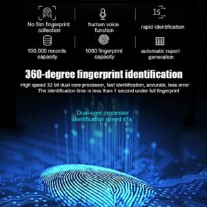Présence de temps, contrôle d'accès par empreinte digitale de capacité de 1000 empreintes digitales, identification d'empreintes digitales à 360 degrés avec clavier de mot de passe pour les(Transl)