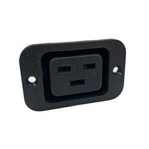 Prise de panneau d'alimentation IEC 320 C19 femelle Montage sur panneau / mur 16 A 250 V Noir