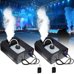 Ridgeyard Lot de 2 machines à fumée verticales DMX 1500 W – 2 l – Avec télécommande – Pour mariage, discothèque, DJ, bar, fête – Jusqu'à 5 m