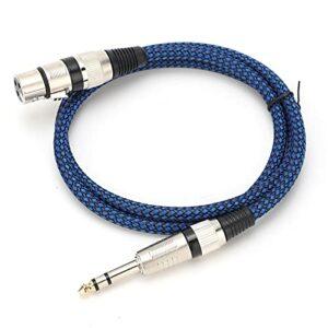 SALALIS Câble d'interconnexion de Signal équilibré, câble Audio en Nylon tissé pour Microphone à condensateur(20 mètres)