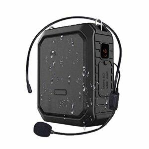 SMSOM Bluetooth amplificateur de Voix, amplificateur de Voix personnelle avec Casque Filaire Microphone Haut-Parleur Portable Bluetooth étanche Rechargeable PA Système d'alimentation for l'extérieur,