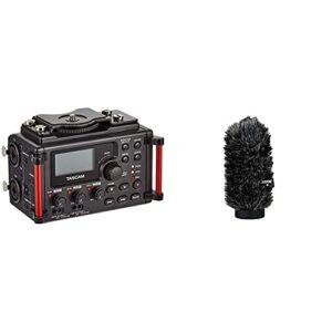Tascam DR-60DMKII – Enregistreur stéréo PCM linéaire Portable pour DSLR & Rode WS6 Bonnette Brise-Vent pour Microphone NTG1/NTG2 Gris