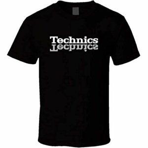 Technics T Shirt DJ 1200 Turntable Music House Techno Electronic Hip Hop New Black S