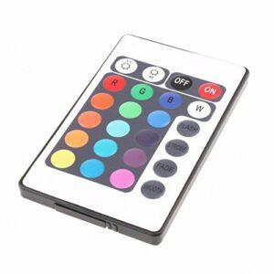 Tenlacum Feux de bande de RVB LED SMD 12V 24 touches télécommande IR pour 3528 5050 (Télécommande IR 24)