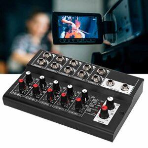 Tenpac Table de mixage Cinq canaux, Table de mixage Audio Multifonction Portable, avec Patin antidérapant pour Prise Audio EU