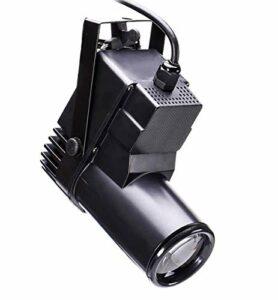 UKing 10W Projecteurs Pin Spot RGBW 4 IN 1 LED Pinspot,Projecteur pour Boule à Facettes avec DMX512,Lampe de Scene Clarté zoomable pour Disco Club Church Soirée
