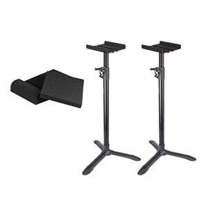 XPZ Stands De Haut-parleurs De Sol (Paires) Stand Audio Réglable en Hauteur, Utilisé pour Les Moniteurs De Studio, Audio Domestique Et Vidéo pour Créer Un Mélange Plus Réaliste (Color : B)