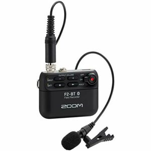 Zoom – F2-BT/B – 32-bit recorder with bluetooth – includes lavalier microphone – noir