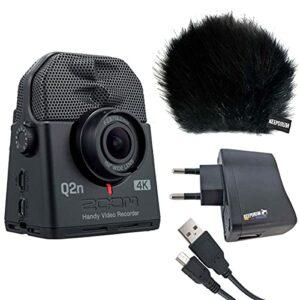 Zoom Q2n-4K Enregistreur audio et vidéo pour téléphone portable + kit d'accessoires Keepdrum