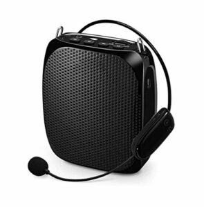 ZOUSHUAIDEDIAN Amplificateur Vocal Microphone sans Fil, la Voix Amplificateur Audio, avec Baudrier for Les Enseignants, Les Guides d'excursions, Coache