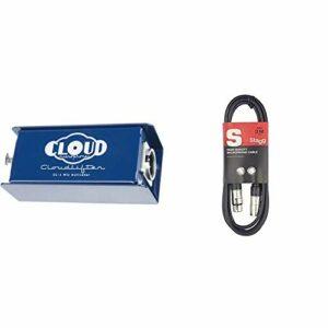 Cloud Microphones Cloudlifter CL-1 Préampli Microphones à transistors & Stagg 3 m Câble Microphone XLR – XLR de Haute Qualité – Noir