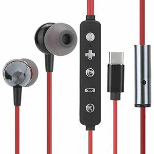 Cloudbox Casque Filaire-Toutes Les Cartes Son numériques Écouteurs Intra-Auriculaires de Type C Casque Filaire stéréo Équipement pour Casque