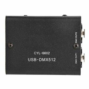 Contrôleur DMX 3CH, contrôleur d'éclairage émetteur-récepteur DMX séparé compatible pour contrôler les lumières de balayage d'ordinateur phares mobiles, lumières