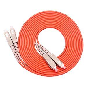 Cordon de patch de fibre optique 1 0PCS / Pack S C / U P C-S C / U P C MODE MULITI MM Cordon de raccordement optique de cavalier optique à fibre optique duplex 1m / 3m / 5m / 10m / 30m / 50m Grande vi