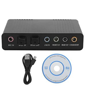 Esenlong DM- HD10 Carte son externe USB 5. 1 adaptateur audio pour karaoké