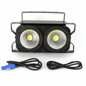 Fetcoi 2 x 100 W COB LED Audience Blinder Éclairage de scène DMX Effet de lumière pour discothèque, salle de bal, KTV, bar, club, fête, mariage