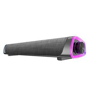 KKKL Barre de Son Surround 3D 5.0 Haut-parleurs d'ordinateur Haut-parleurs stéréo Subwoofer Barre de Son pour Ordinateur Portable PC théâtre TV