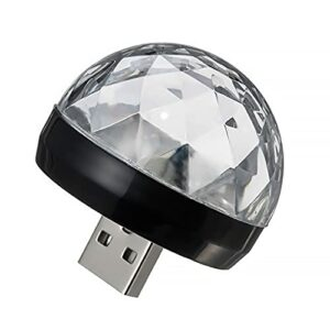 LOPAE Mini lampe disco USB à LED activée par le son (Noir)