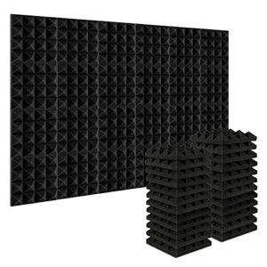 Paquet de 24 Panneaux insonorisants 25 * 25 * 5CM, mousses insonorisées, dalles de mousse acoustique