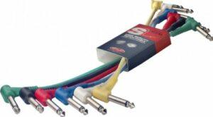 Stagg Câble patch mono avec connecteurs en plastique moulé – Prise téléphone L/Prise téléphone L/Prise téléphone L