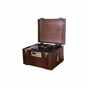 Tourne-Disque à Courroie en Bois Naturel de Style Vintage avec enregistreur à Haut-parleurs stéréo