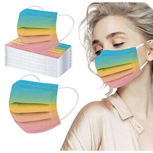 Zldhxyf Lot de 50 bandanas jetables 3 couches respirants pour la bouche et le nez – Pour homme et femme, a, M