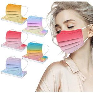 Zldhxyf Lot de 50/60 protège-dents jetables pour adultes – 3 couches – Avec motif – Respirant – Confortable pour les adultes, a, M
